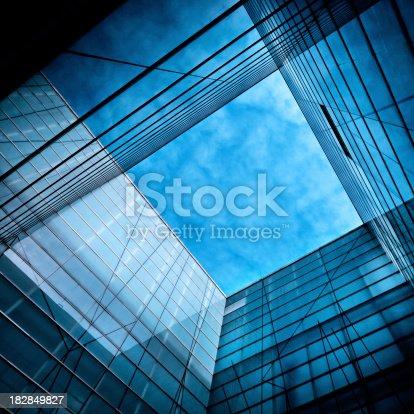 istock Modern Glass Architecture 182849827