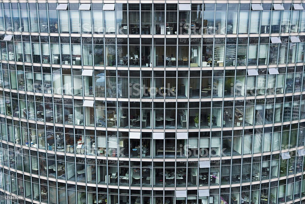 Modern Glass Building, Berlin, Germany stock photo