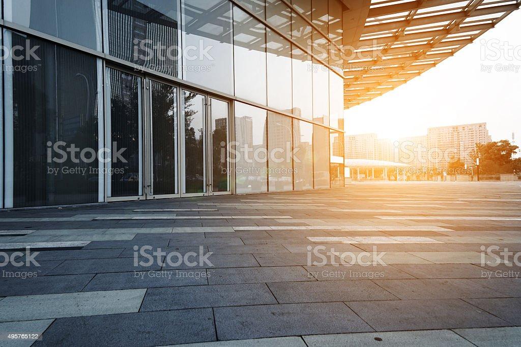 Modern glass building exterior stock photo