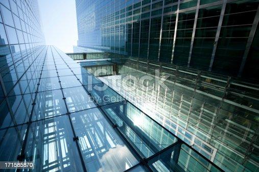 istock Modern Glass Building in Sunlight 171585870