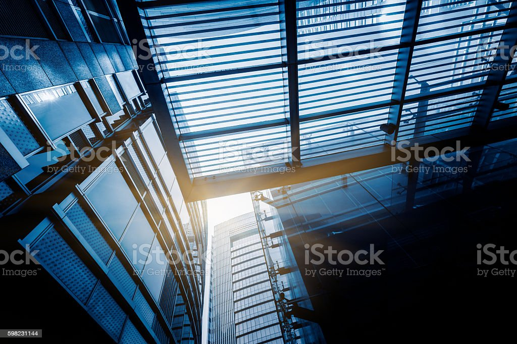 Moderno edifício de vidro  foto royalty-free