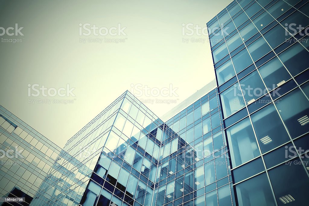 modern glass business center in gale royalty-free stock photo