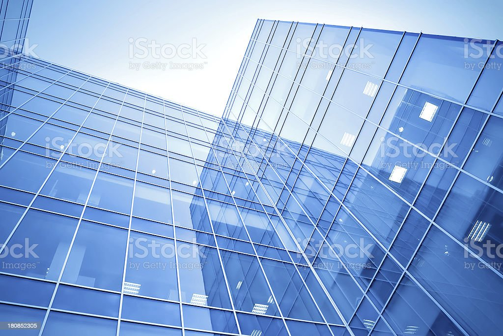 modern glass business center royalty-free stock photo