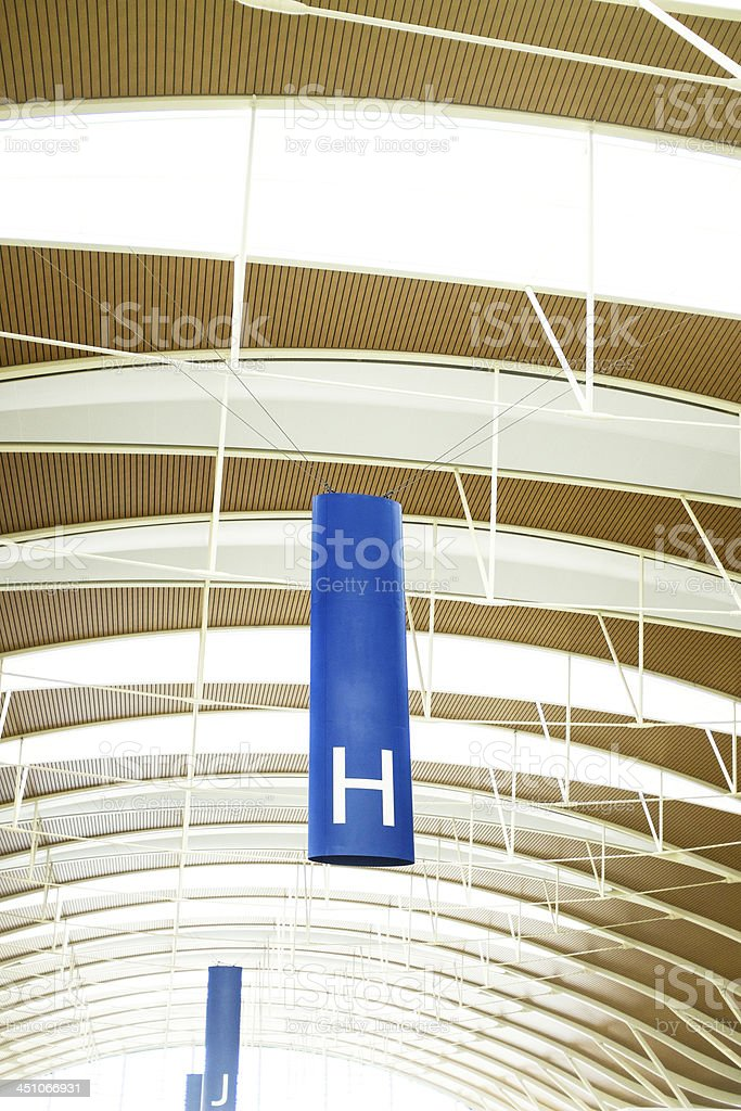 Modern Glass Ceiling royalty-free stock photo