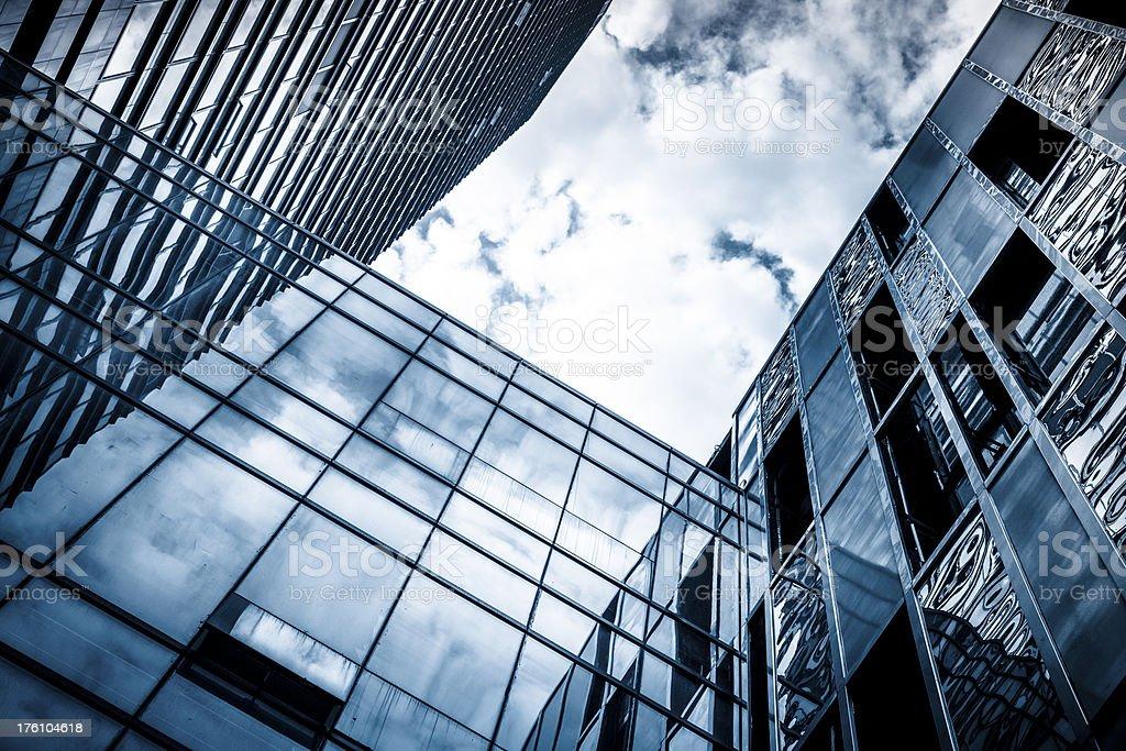 Modern glass corporate building stock photo