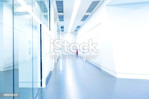 istock Modern Glass Corridor 186695431