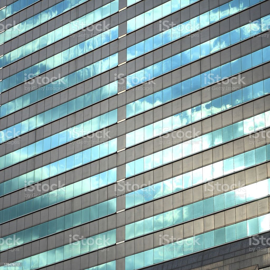 Modern glass curtain wall stock photo