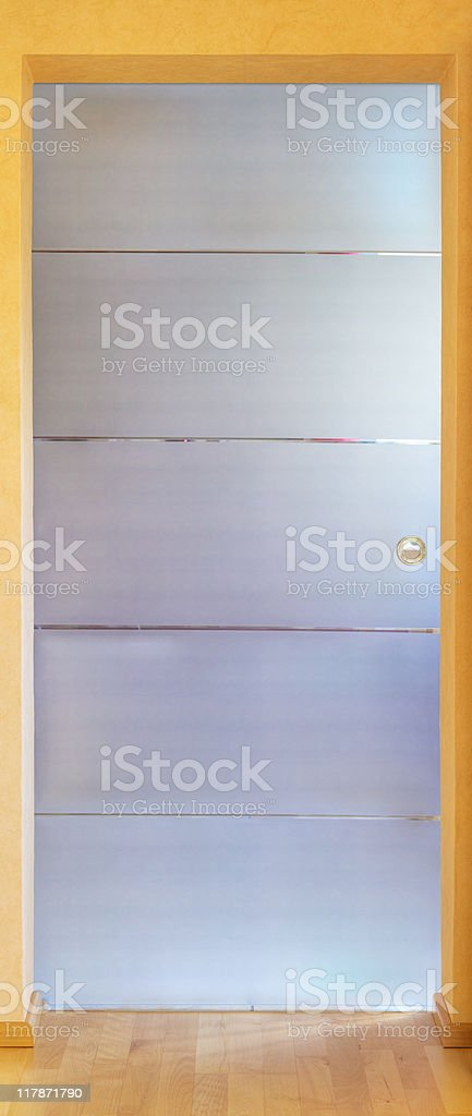 modern glass door royalty-free stock photo