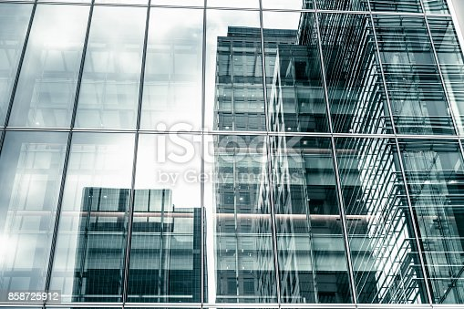 istock Modern Glass Facade 858725912