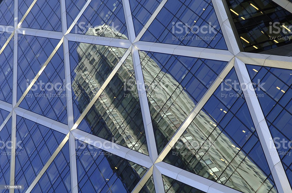 modern glass fassade stock photo