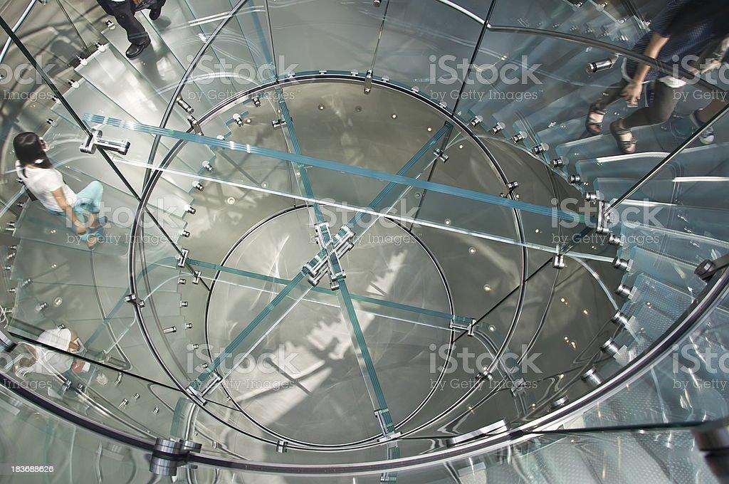 Moderne Glas wenige Menschen in shanghai, china – Foto