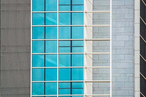 Modern glass office architectur