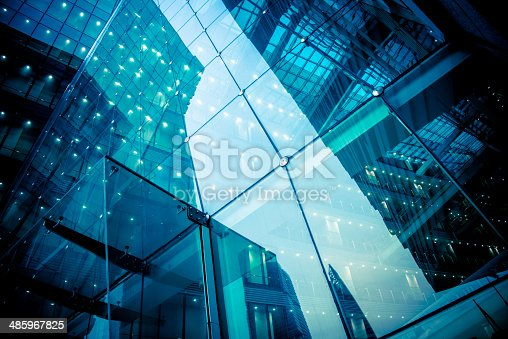 facade of modern glass office architecture