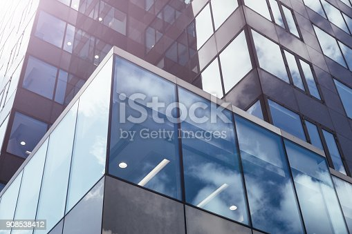 istock Modern glass office architectur 908538412