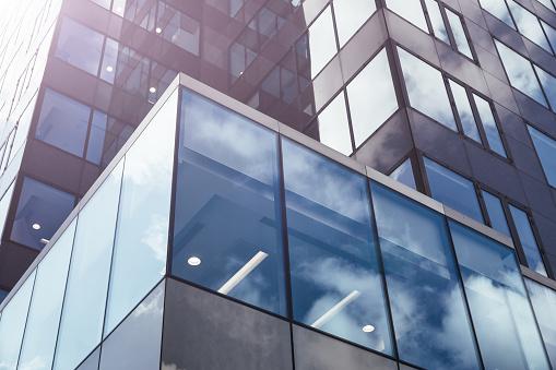 istock Modern glass office architectur 908538412