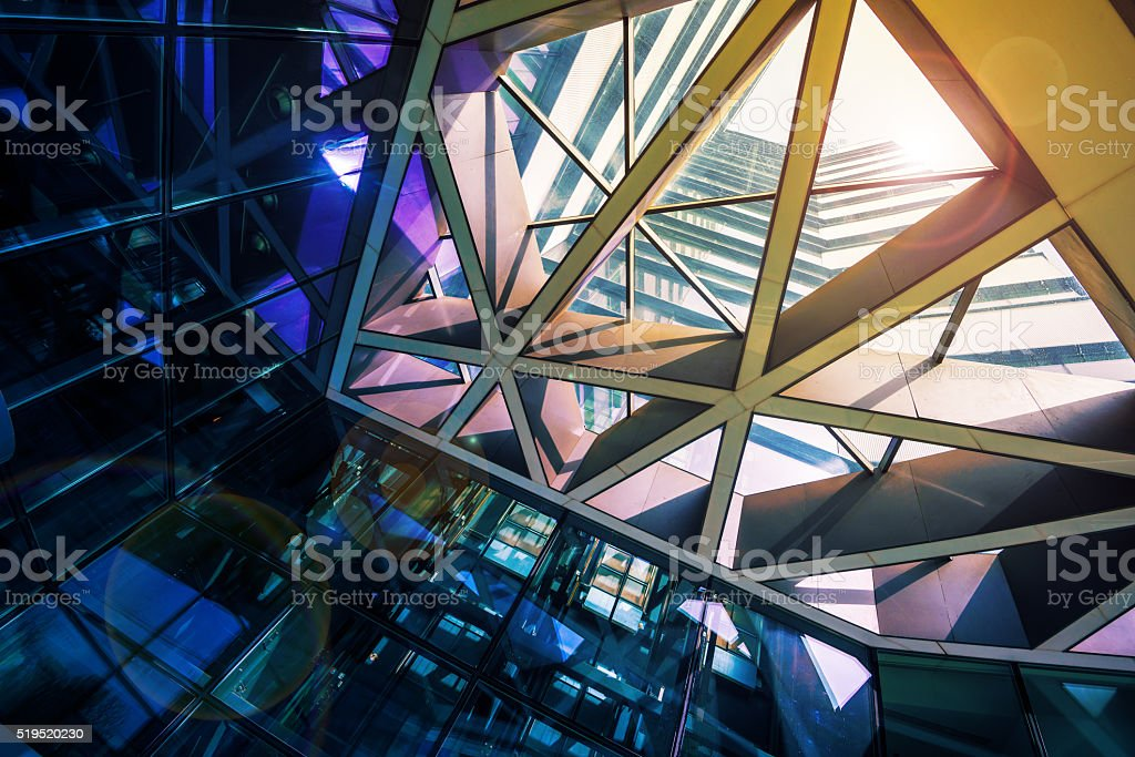 Modern glass office building stock photo