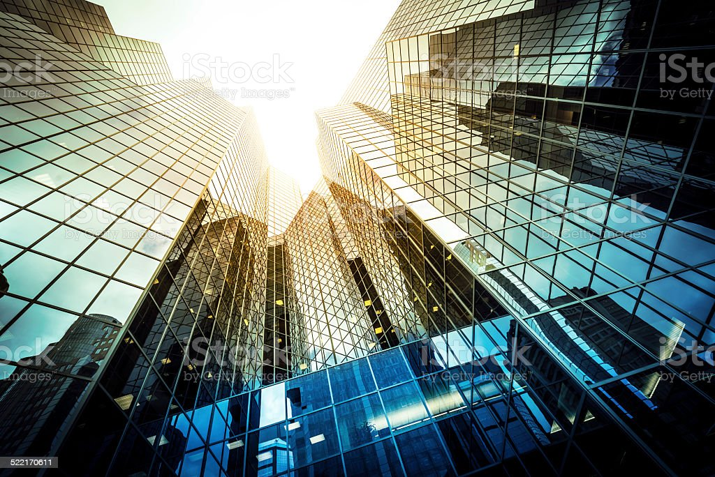 Modern glass office building - Royalty-free Abstract Stock Photo