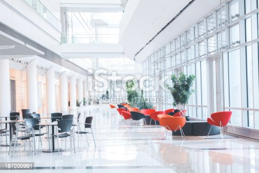 istock Modern Glass Office Lobby 187200991
