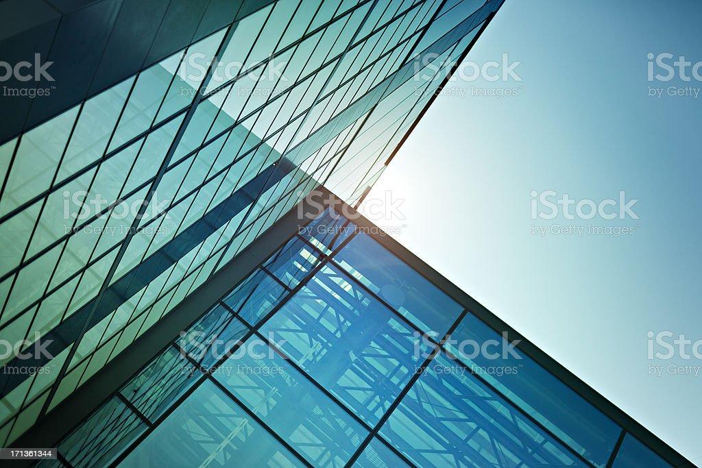 Modern Glass Office stock photo