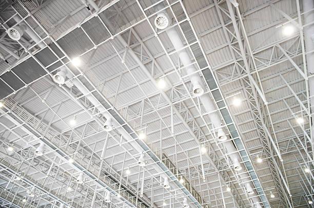 modern glass roof stock photo
