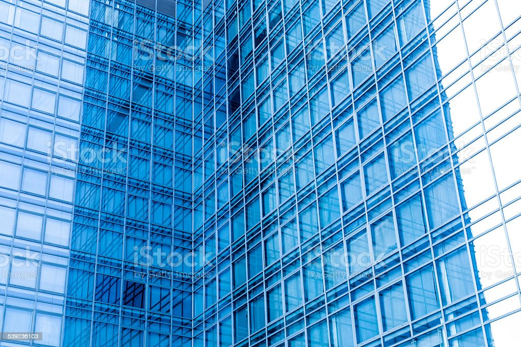 modern glass silhouettes of skyscrapers royalty-free stock photo