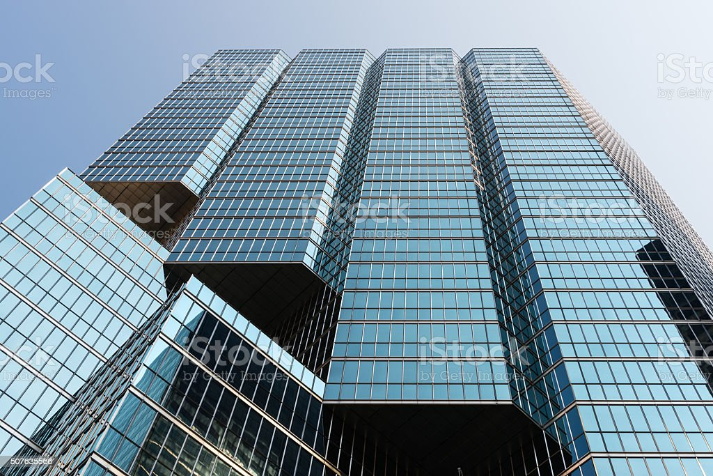 Modern glass skyscraper in Toronto, Canada stock photo