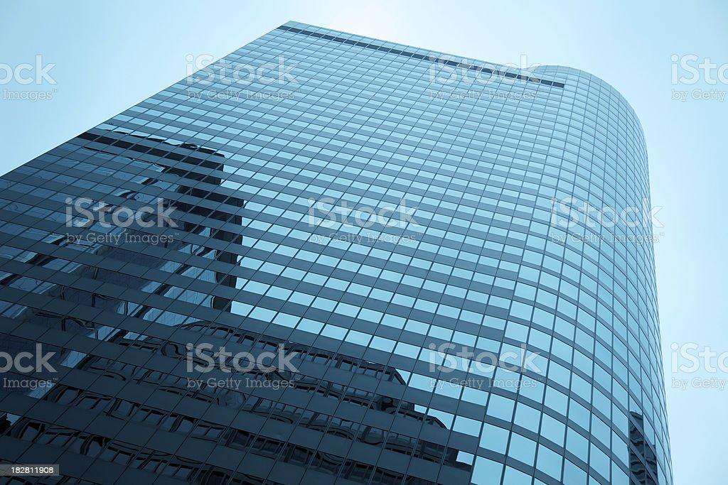 Modern glass skyscraper royalty-free stock photo