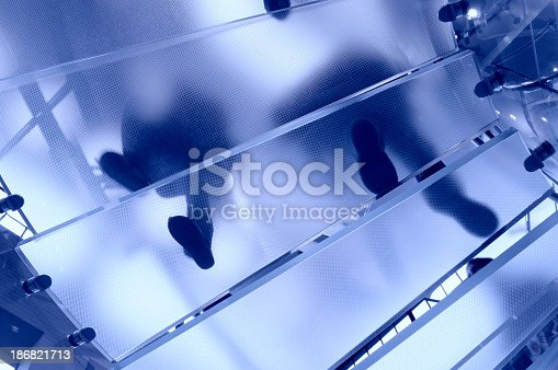 180698194 istock photo Modern Glass Staircase, NYC 186821713