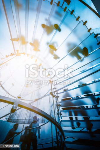 istock Modern Glass Staircase 178484150