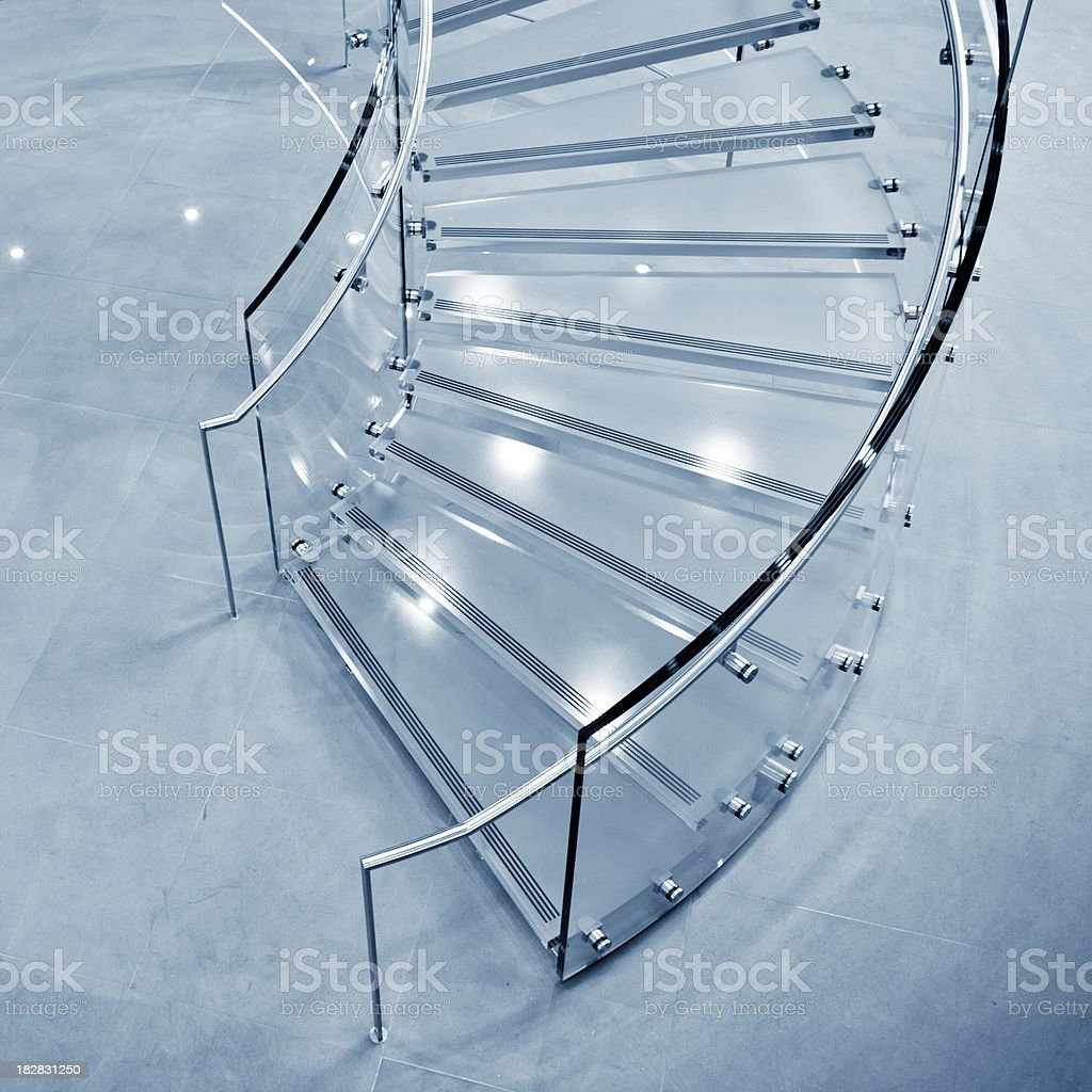 Modern Glass Staircase royalty-free stock photo