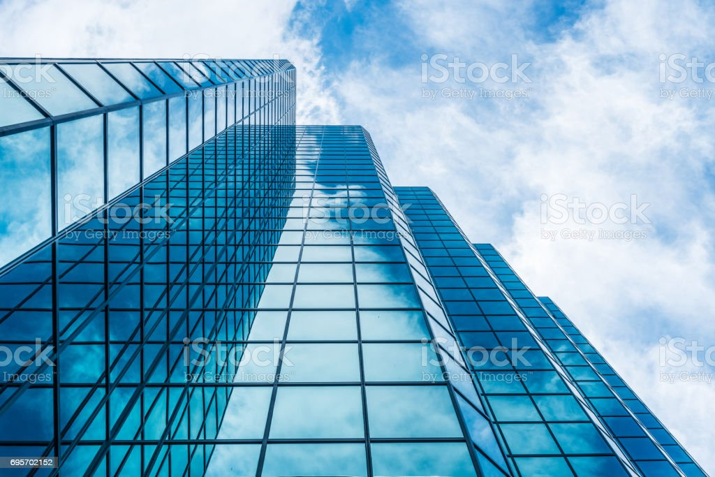 Modern glass tower stock photo