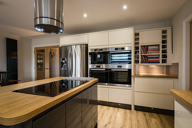 Modern Glossy Kitchen stock photo