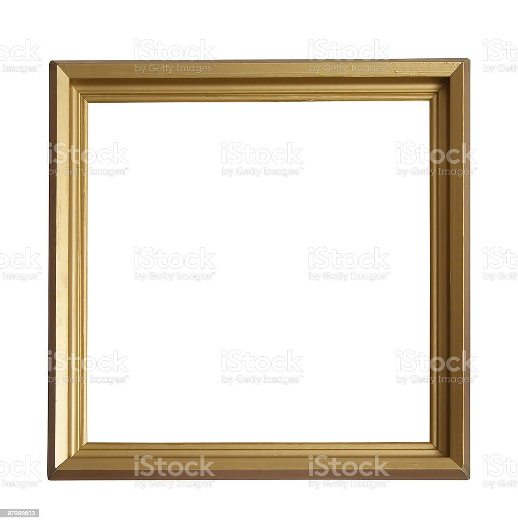 Modern gold picture frame royalty-free stock photo