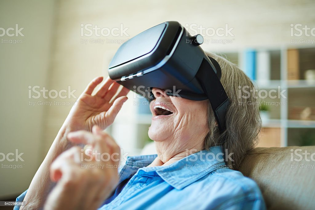 Modern granny stock photo