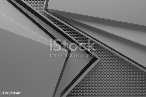 modern gray space graphic background texture pattern 3d illustration