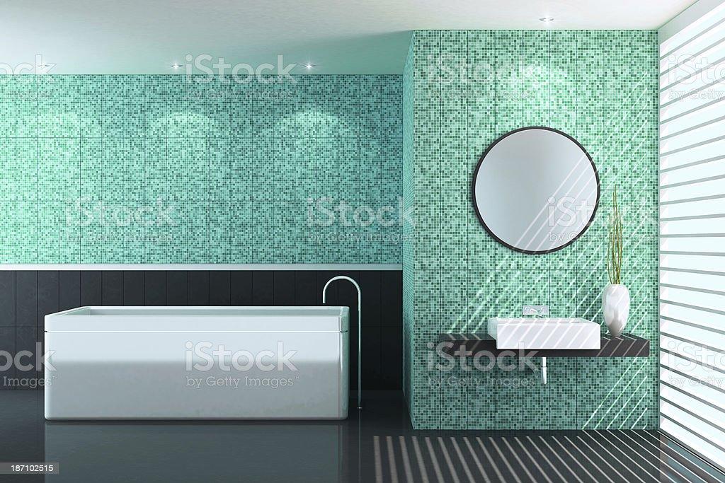 Modern Green Bathroom royalty-free stock photo