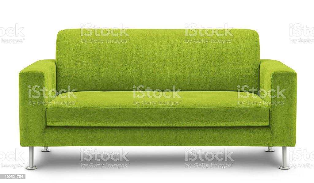 Modern Green Sofa Design On White Background stock photo 160321754 ...