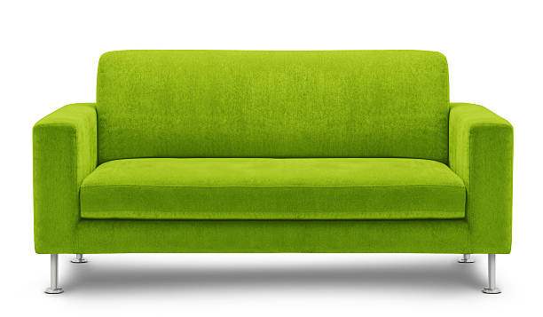 Modern green sofa design on white background light green sofa isolated on white background armchair stock pictures, royalty-free photos & images