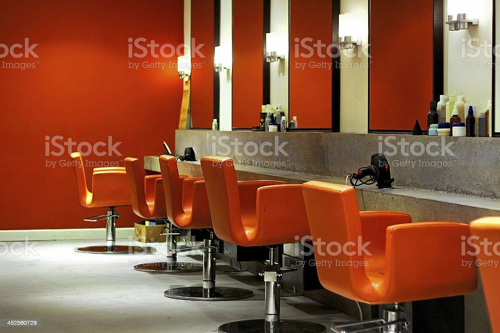 Modern hair salon stock photo