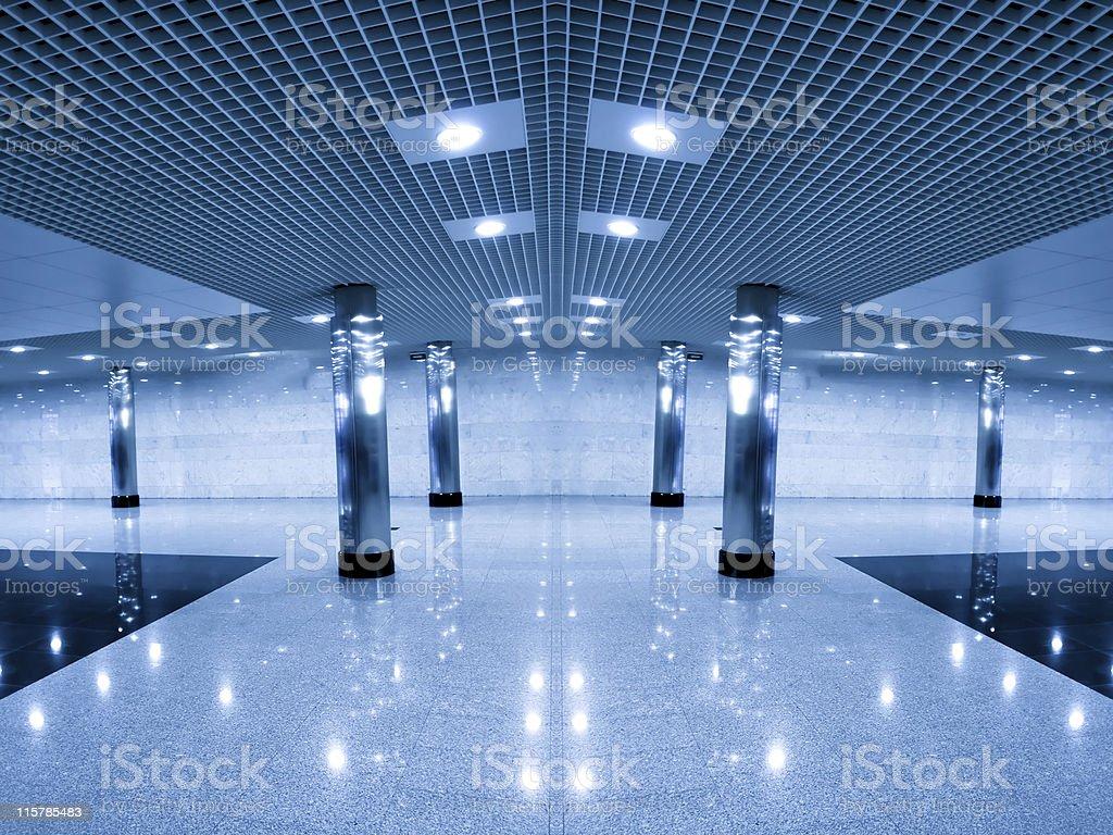 modern hall inside office center royalty-free stock photo