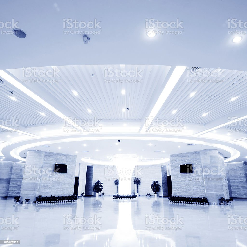 modern hall inside office center stock photo