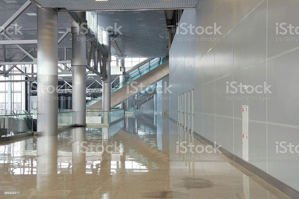 modern hall stock photo