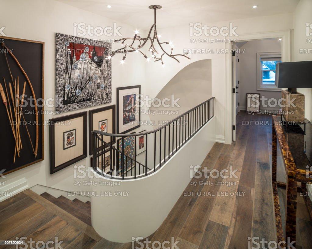 Modern Hallway Interior stock photo