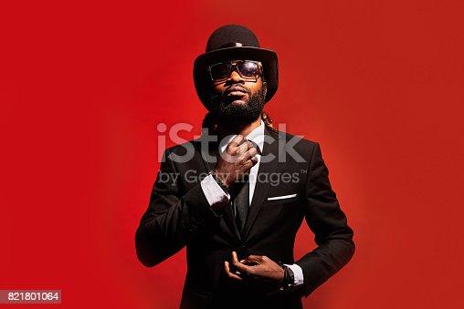 istock Modern handsome businessman 821801064