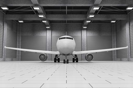 Moderne Hangar Interieur Mit Modernen Flugzeug Innen Stockfoto und mehr Bilder von 2015