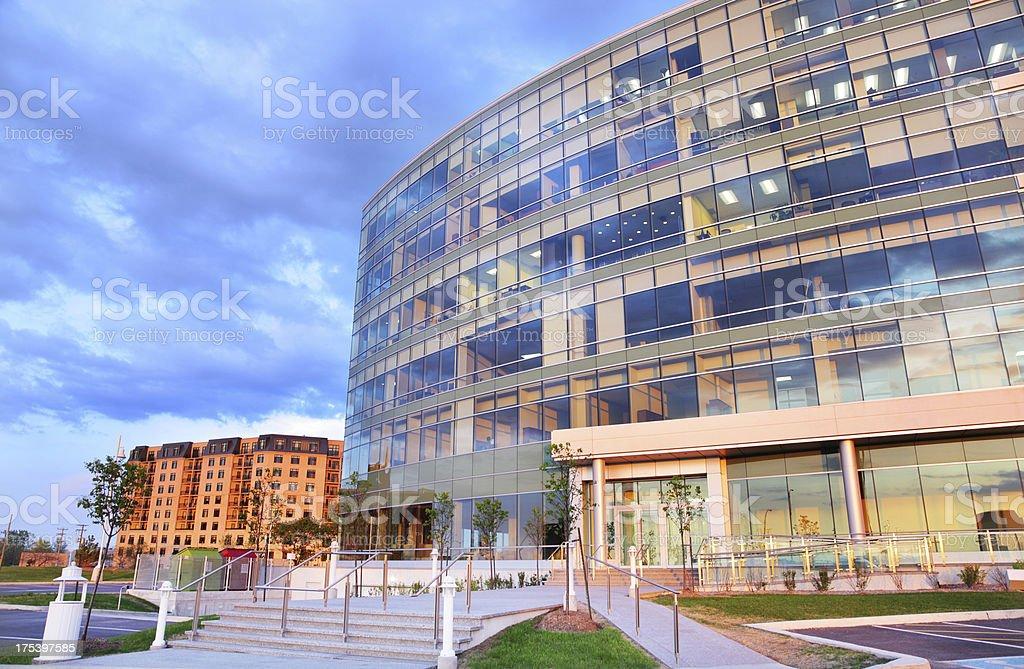 Modern Head Office Buiding Facade royalty-free stock photo