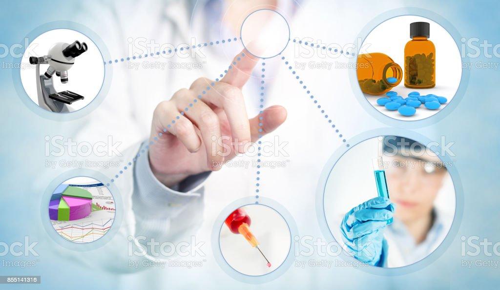 modern health care and medicine concept stock photo