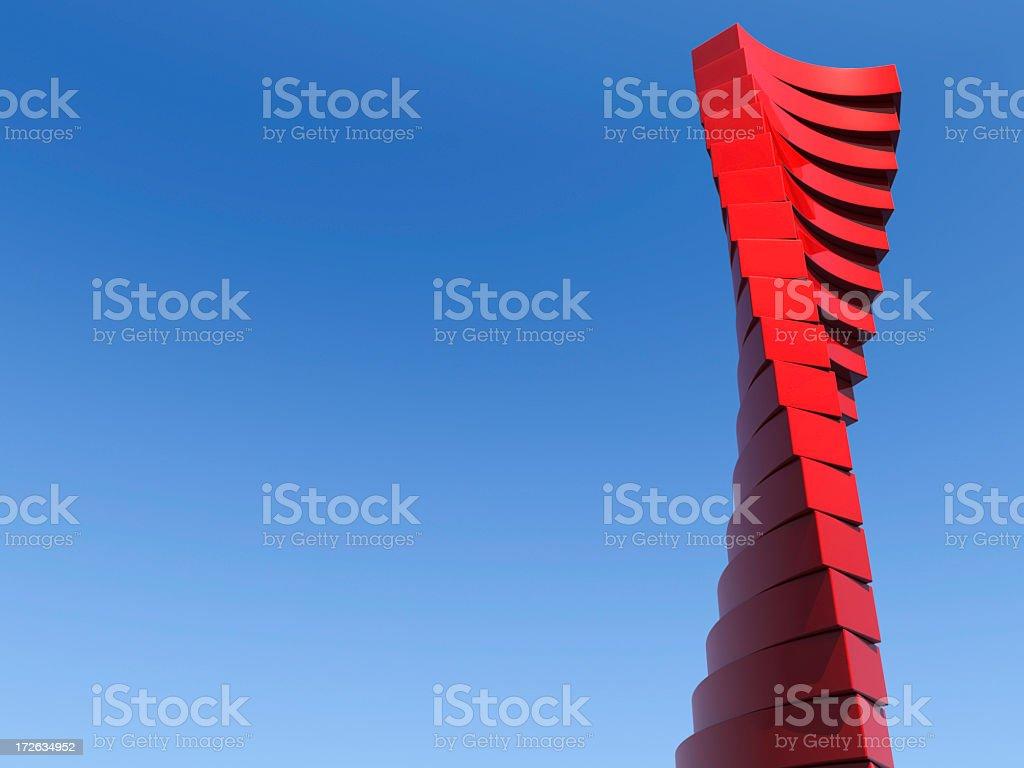 Modern helical architectural building stok fotoğrafı