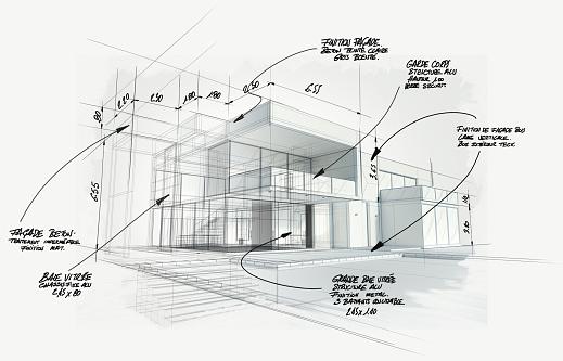 Proyecto Moderno De Arquitectura De Alta Gama Foto de stock y más banco de imágenes de Acabar
