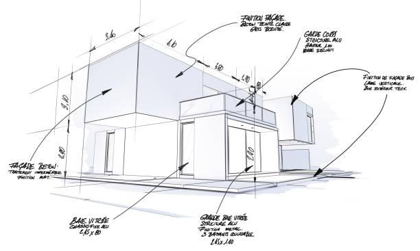 Projet d'architecture haut de gamme moderne - Photo